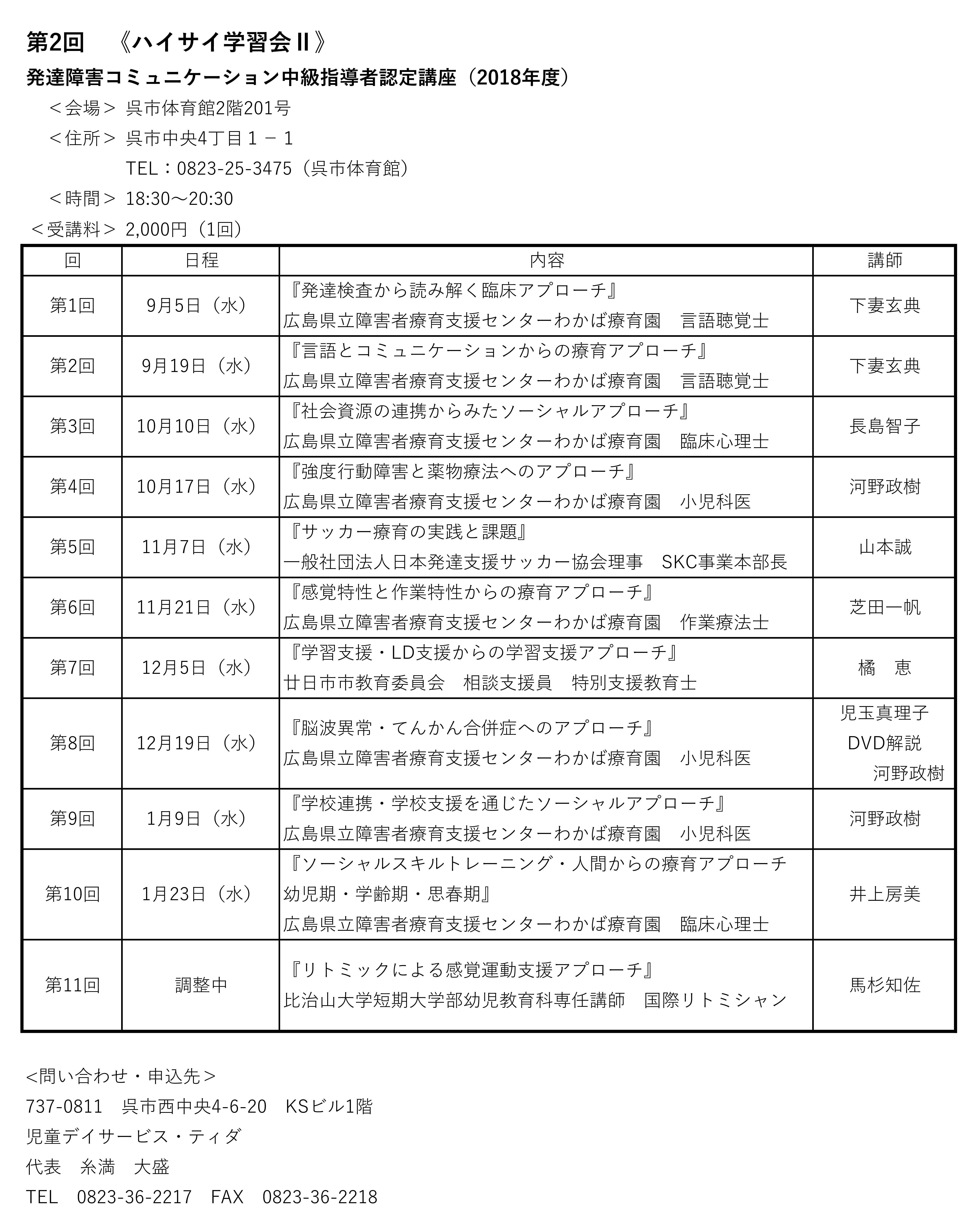 2018中級ティダ